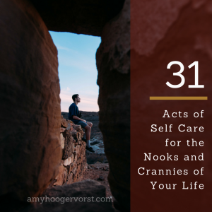 31 Acts of Self Care checklist