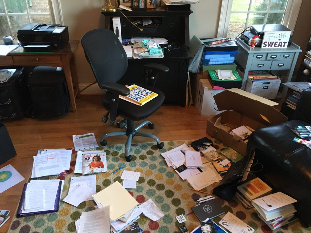 my office - before what health coaching did for me