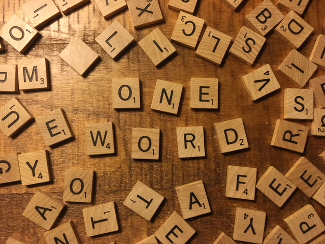 one word for 2018 - what's yours?