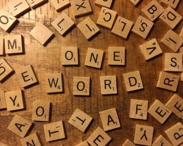 what's your one word for 2018?