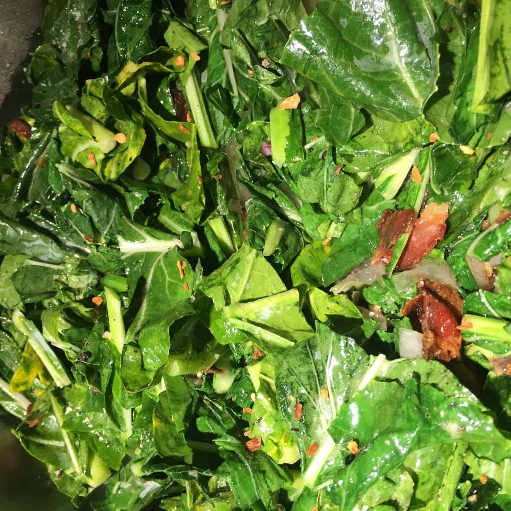what i learned in spring 2018 was that all those greens in my CSA can improve my dental health