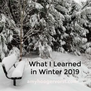 4 things I learned in winter 2019
